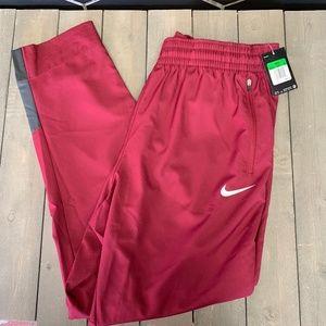 Mens Nike Basketball Dri-Fit Burgundy Grey Sweats